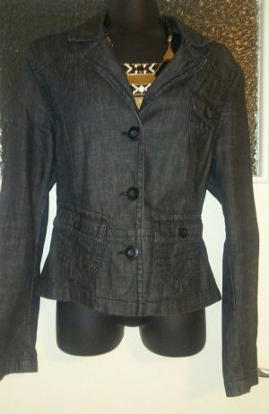 Street One Denim Blazer dark grey-anthracite cotton