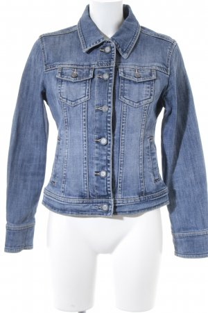 Street One Jeansjacke blau-wollweiß Washed-Optik