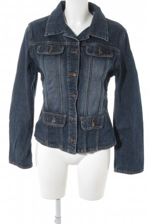 Street One Jeansjacke dunkelblau Street-Fashion-Look