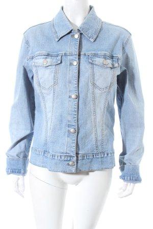 Street One Jeansjacke hellblau-wollweiß Washed-Optik