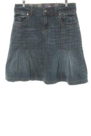 Street One Jupe en jeans bleu foncé Aspect de jeans