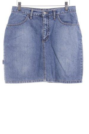 Street One Jupe en jeans bleuet moucheté style décontracté