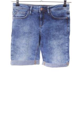 Street One Pantaloncino di jeans blu-bianco Colore sfumato stile casual