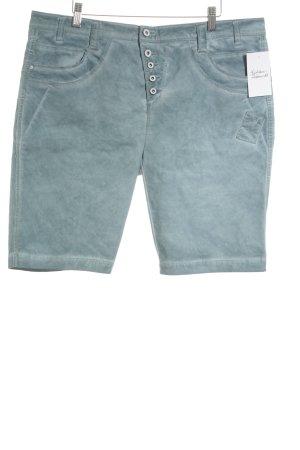 Street One Jeansshorts graublau-blassblau Batikmuster Casual-Look