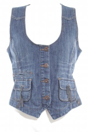 Street One Denim Vest blue casual look