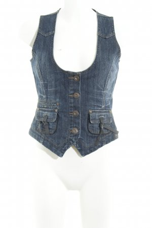 Street One Gilet en jean bleu style seconde main