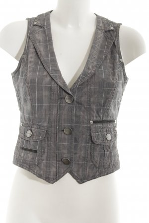 Street One Denim Vest houndstooth pattern casual look
