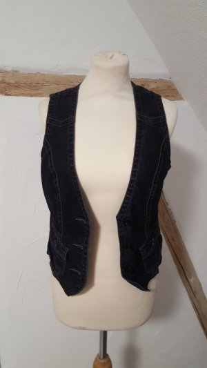 Street One Denim Vest dark blue