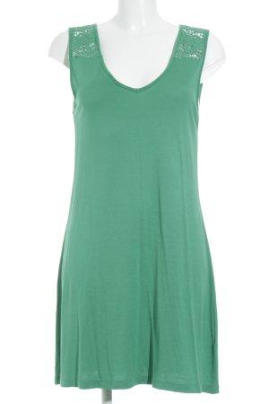 Street One Jerseykleid grün Ornamentenmuster Casual-Look