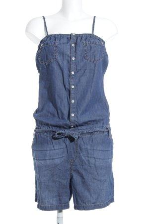 Street One Jumpsuit blau Jeans-Optik