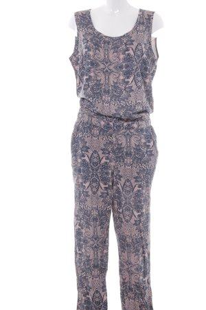 Street One Jumpsuit rosé-dunkelblau abstraktes Muster Casual-Look