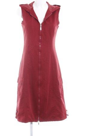 Street One Robe à capuche rouge foncé style décontracté