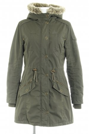 Street One Hooded Coat forest green casual look