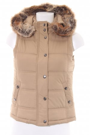 Street One Hooded Vest beige casual look