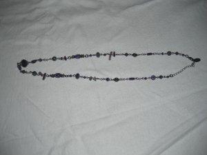 Street One Kette mit lila und grauen Steinen und altsilber Kugeln