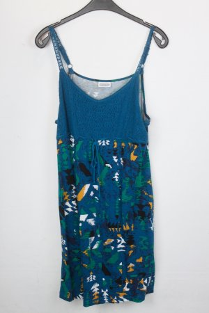 Street One Kleid Gr.44 blau gemustert (18/5/525)
