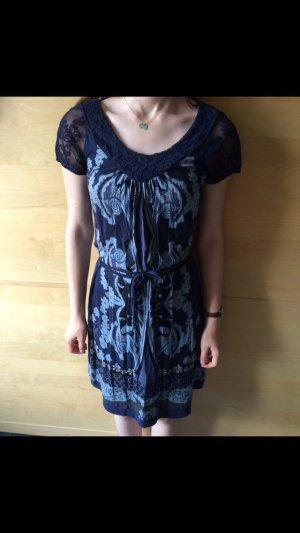 Street One Kleid in Blau/Schwarz, Größe 38