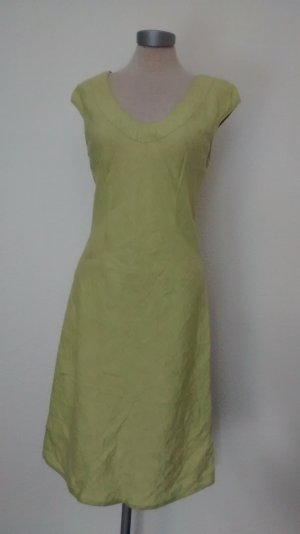 Street One Kleid kiwi grün Leinen Gr. 38 S M knielang ethno goa