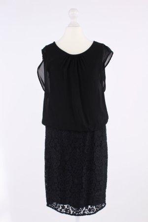 Street One Kleid mit Rock aus Spitze schwarz Größe 36