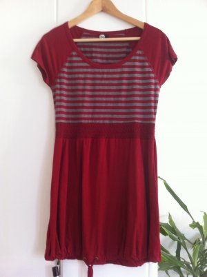 Street One Kleid rot-grau Gr. S