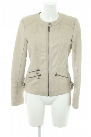 Street One Faux Leather Jacket cream casual look