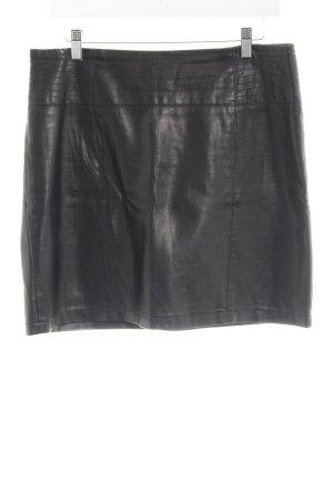 Street One Falda de cuero de imitación negro Estilo ciclista