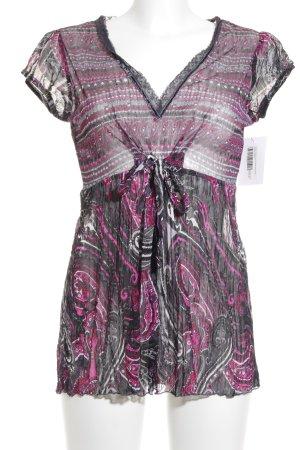 Street One Kurzarm-Bluse abstraktes Muster Elegant