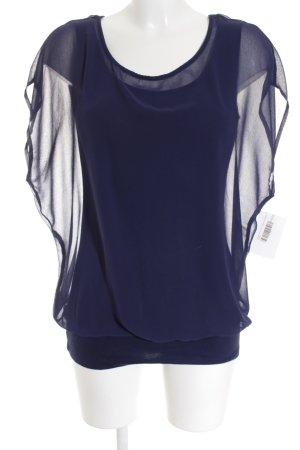 Street One Kurzarm-Bluse dunkelblau Elegant