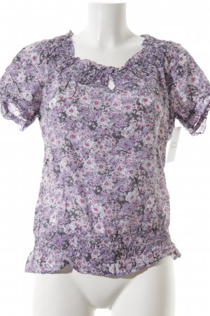 Street One Kurzarm-Bluse florales Muster Casual-Look