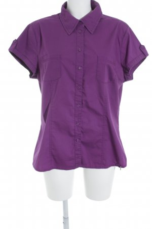 Street One Kurzarm-Bluse lila Casual-Look