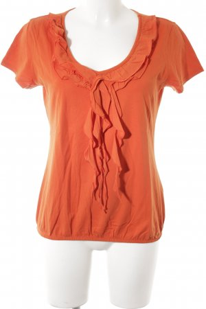 Street One Kurzarm-Bluse neonorange Casual-Look