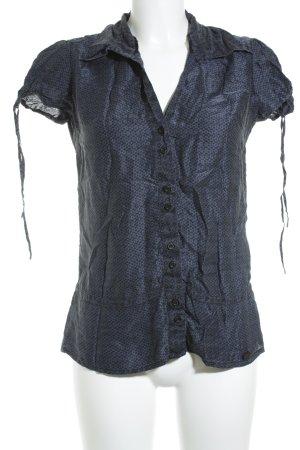 Street One Short Sleeved Blouse black-dark blue flower pattern casual look
