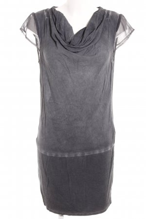 Street One Kurzarmkleid grau Washed-Optik