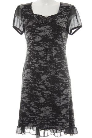 Street One Kurzarmkleid schwarz-grau Farbtupfermuster schlichter Stil