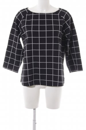 Street One Short Sleeve Sweater black-white check pattern casual look