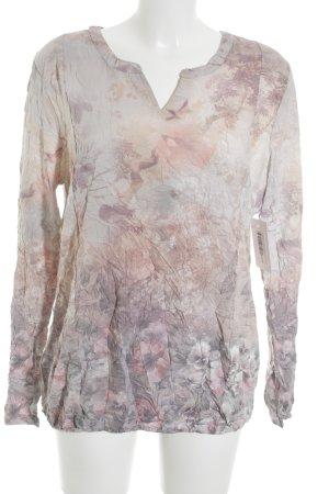Street One Langarm-Bluse beige-blasslila Mustermix klassischer Stil