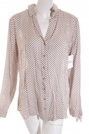 Street One Langarm-Bluse beige-dunkelbraun Casual-Look