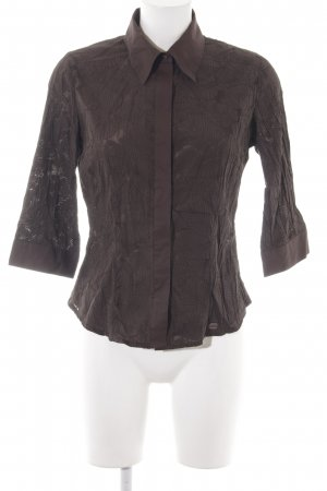Street One Langarm-Bluse graubraun-dunkelbraun abstraktes Muster Casual-Look