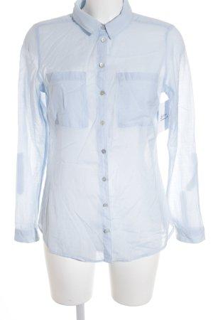 Street One Langarm-Bluse himmelblau Punktemuster Business-Look
