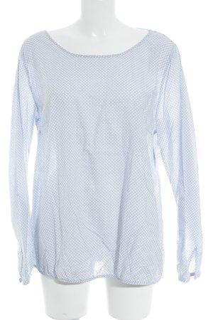 Street One Langarm-Bluse himmelblau-weiß abstraktes Muster Casual-Look