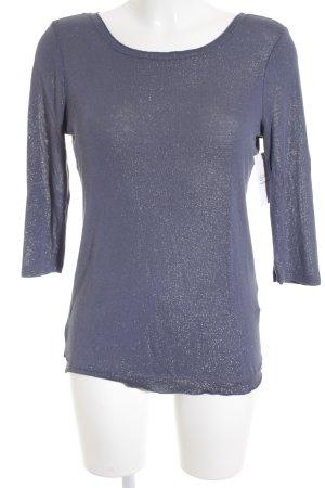Street One Langarm-Bluse kornblumenblau-silberfarben Casual-Look
