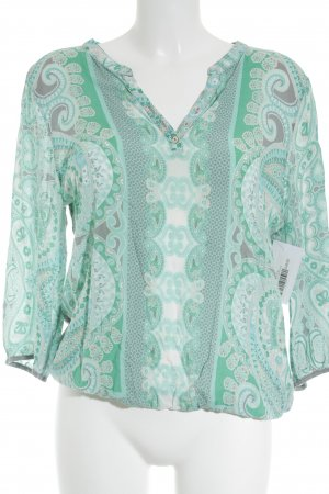 Street One Langarm-Bluse Ornamentenmuster Casual-Look