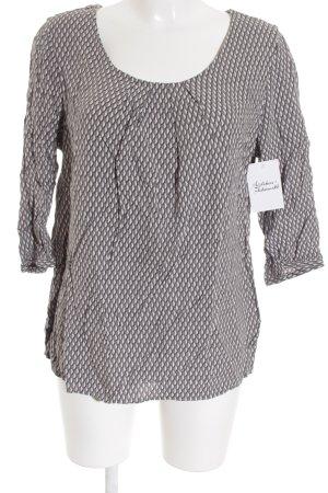Street One Langarm-Bluse weiß-grau abstraktes Muster Casual-Look