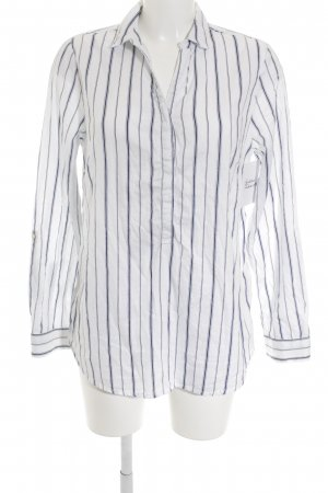 Street One Shirt met lange mouwen wit-donkerblauw gestreept patroon