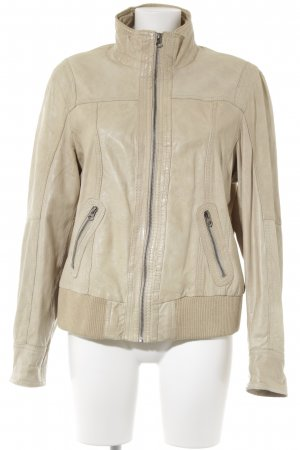 Street One Lederjacke hellbeige Used-Optik