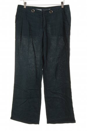 Street One Linen Pants petrol casual look