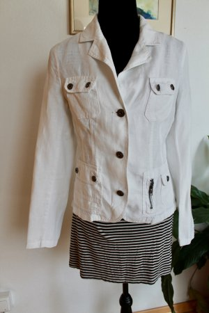 Street One Denim Blazer white-natural white linen