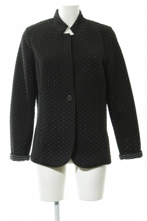 Street One Long Blazer black-silver-colored graphic pattern casual look