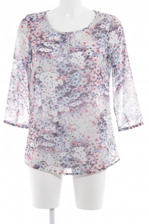 Street One Long-Bluse Blumenmuster Business-Look