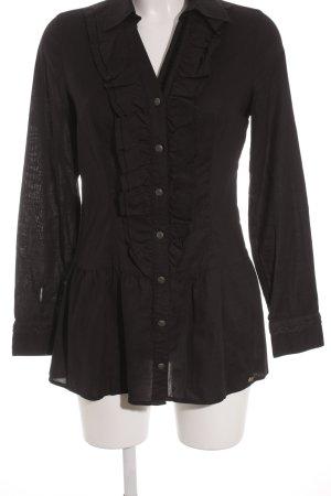 Street One Long-Bluse schwarz schlichter Stil
